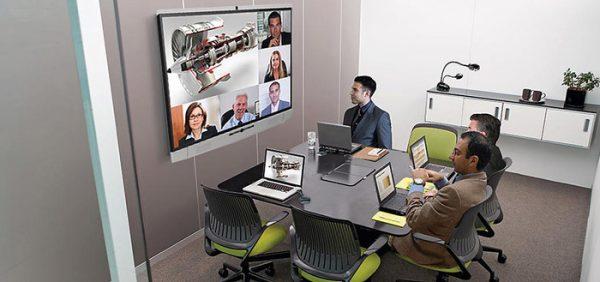 Videokonferenzen mit Touchbildschirm interaktiv gestalten